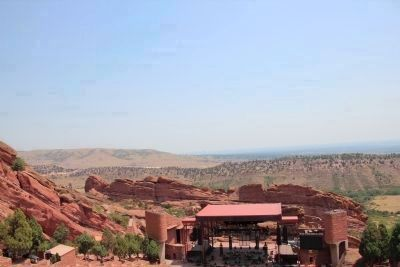 Red Rocks Amphitheatre and surrounding countryside image. Click for full size.