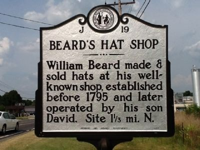 Beard's Hat Shop Marker image. Click for full size.