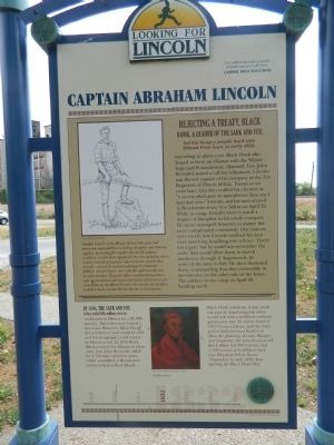 Captain Abraham Lincoln Marker image. Click for full size.
