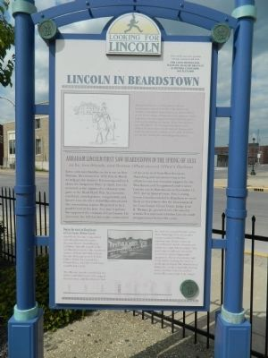 Lincoln in Beardstown Marker image. Click for full size.