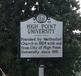 High Point University Marker image. Click for full size.