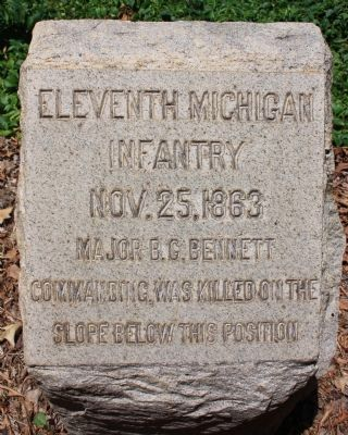 Eleventh Michigan Infantry Marker image. Click for full size.
