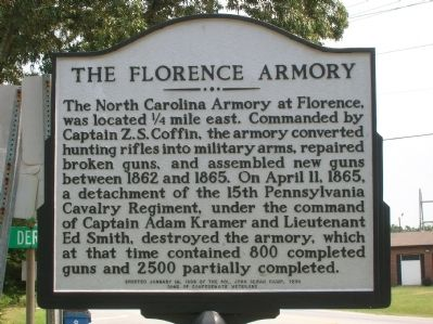 The Florence Armory Marker image. Click for full size.