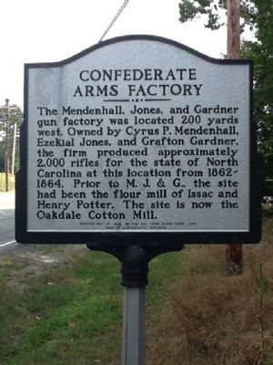 Confederate Arms Factory Marker image. Click for full size.
