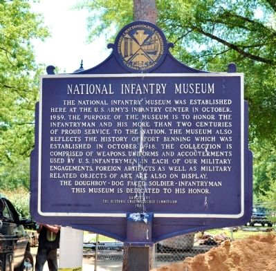 National Infantry Museum Marker (Side 2) image. Click for full size.