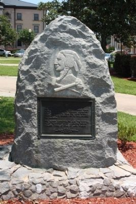 Apalachee Trail Marker, in the park at Columbia County Office image. Click for full size.