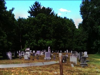 Street-side view of Early Cemetery image. Click for full size.