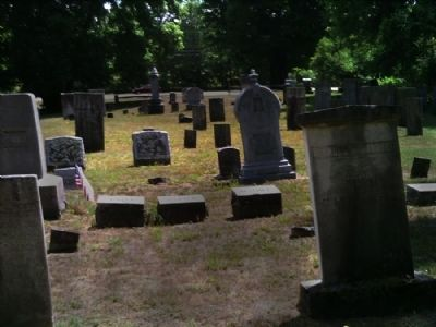 Names side of headstones in Early Burial Ground image. Click for full size.