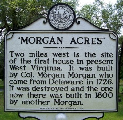 """Morgan Acres"" Marker, Bunker Hill, WV image. Click for full size."