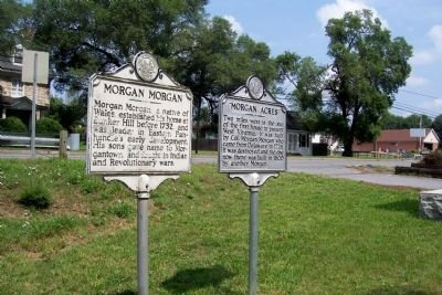 """Morgan Acres"" Marker next to Morgan Morgan marker. image. Click for full size."