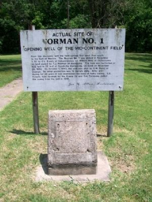 Actual Site of Norman No. 1 Marker image, Touch for more information