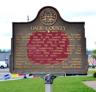 Dade County Marker image. Click for full size.