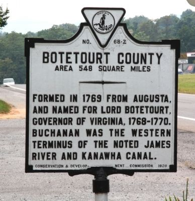 Botetourt County Face of Marker image. Click for full size.