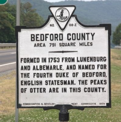 Bedford County Face of Marker image. Click for full size.