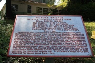 Wilson's Brigade Marker image. Click for full size.