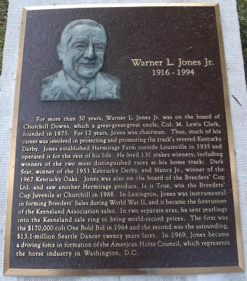 Warner L. Jones Jr. Marker image. Click for full size.