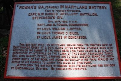 Rowan's GA, formerly 3d Maryland Battery Marker image. Click for full size.