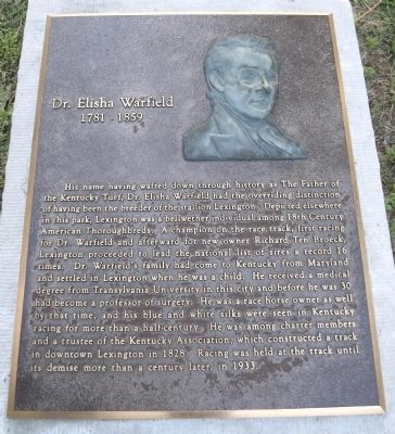 Dr. Elisha Warfield Marker image. Click for full size.