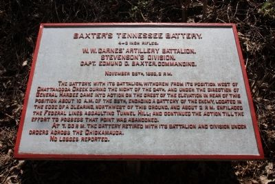 Baxter's Tennessee Battery Marker image. Click for full size.