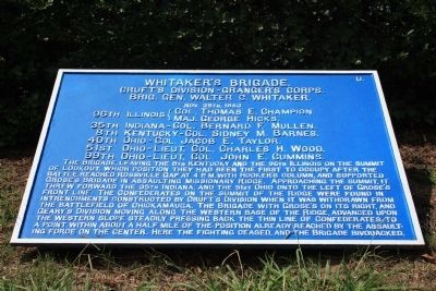 Whitaker's Brigade Marker image. Click for full size.