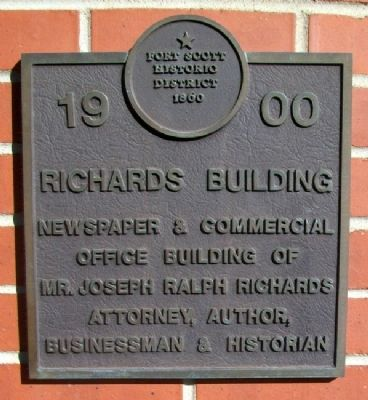 Richards Building Marker image. Click for full size.