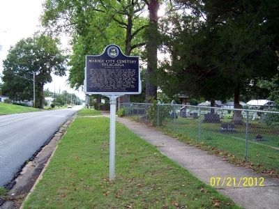 Marble City Cemetery Sylacauga Marker image. Click for full size.