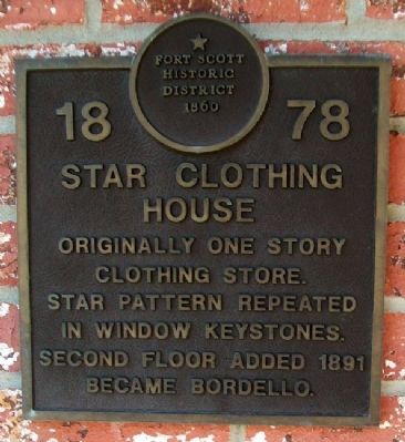 Star Clothing House Marker image. Click for full size.