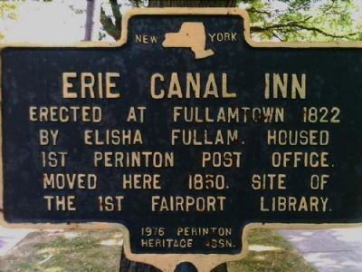 Erie Canal Inn Marker image. Click for full size.