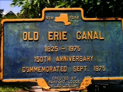 Old Erie Canal Marker image. Click for full size.