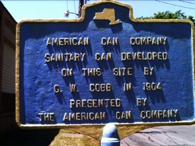 American Can Company Marker image. Click for full size.