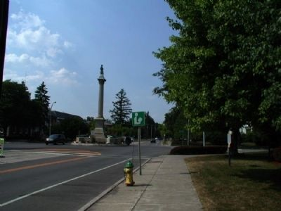 1853-1925 Marker as seen facing north along 19 image. Click for full size.