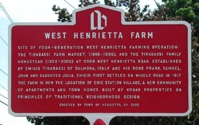 West Henrietta Farm Marker image. Click for full size.