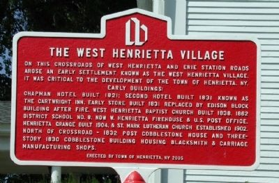 The West Henrietta Village Marker image. Click for full size.