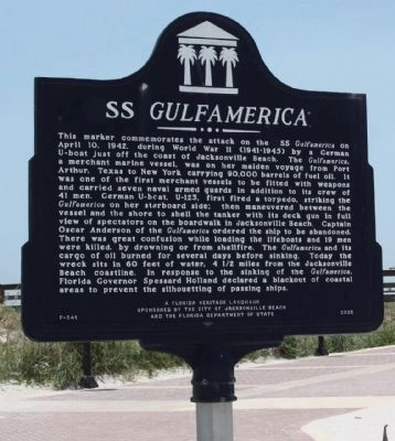 SS Gulfamerica Marker image. Click for full size.