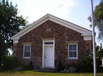 Chili Cobblestone School Museum Front View image. Click for full size.
