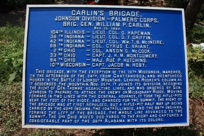 Carlin's Brigade Marker image. Click for full size.