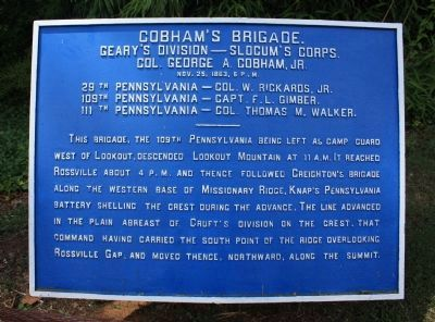 Cobham's Brigade Marker image. Click for full size.