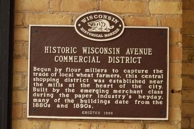 Historic Wisconsin Avenue Commercial District Marker image. Click for full size.