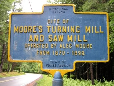 Moore's Turning Mill and Saw Mill Marker image. Click for full size.