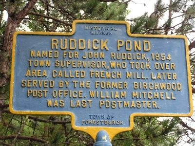 Ruddick Pond Marker image. Click for full size.