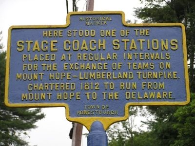 Here Stood one of the Stage Coach Stations Marker image. Click for full size.