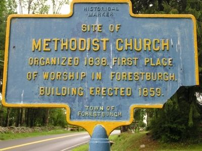 Site of Methodist Church Marker image. Click for full size.