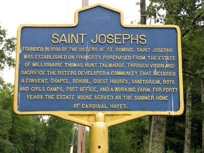 Saint Josephs Marker image. Click for full size.