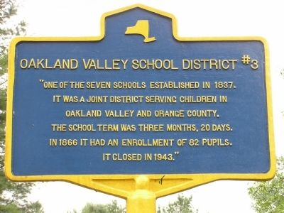 Oakland Valley School District #3 Marker image. Click for full size.