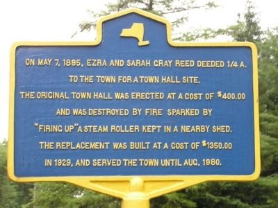 Town Hall Site Marker image. Click for full size.