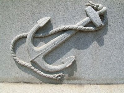 Civil War Memorial Navy Emblem image. Click for full size.