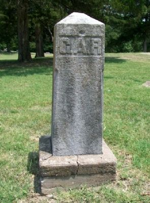 Civil War Memorial G.A.R. Boundary Marker image. Click for full size.