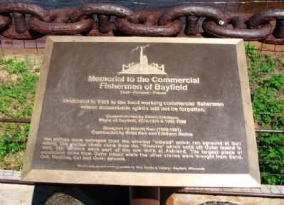Memorial to Commercial Fishermen of Bayfield Marker image. Click for full size.
