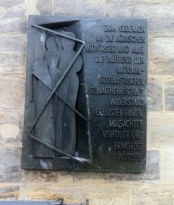 Memorial plaque for victims of the Nazi regime image. Click for full size.