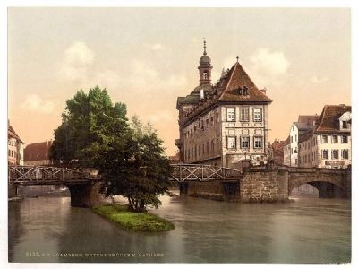 Lower Bridge and Rathaus - Bamberg image. Click for full size.